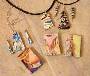 Jewelry Matchbox Art by Vivian Long